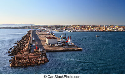 Sardinia - harbor in Porto Torres