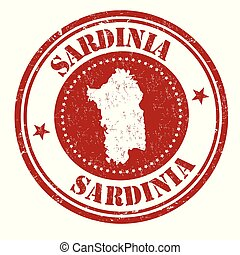 Sardinia sign or stamp on white background, vector...