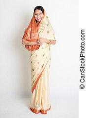 sari, indio, hembra