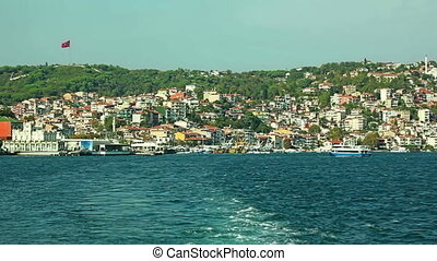 Sariyer Istanbul - Leaving the small fishing harbor Sariyer...