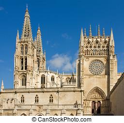Sarmental Facade of Burgos Gothic Cathedral. Spain