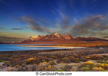 Sarmiento lake, Torres del Paine