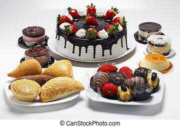 sarriette, doux, anniversaire, gâteau