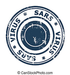 SARS Virus Stamp - Severe acute respiratory syndrome, SARS,...