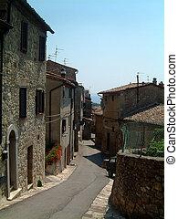 Sarteano street - Street in Sarteano, Tuscany