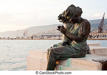 sartine, trieste, le, estatuas