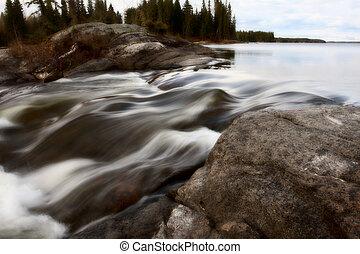 Sasagin Rapids along Grass River in Northern Manitoba