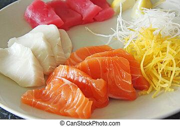 Sashimi arrangement