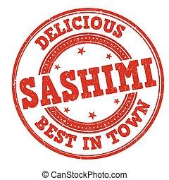 sashimi, caoutchouc, grunge, timbre