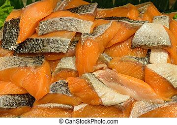 Sashimi salmon buffets