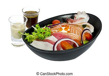 sashimi sushi salad