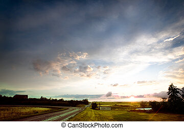 Saskatchean Storm Sunset