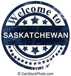 Saskatchewan stamp on white background