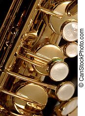sassofono, dettaglio, 2