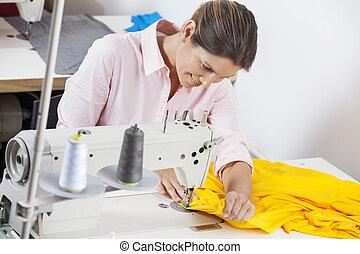 sastre, costura, costura, tela, fábrica