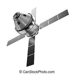satélite, aislado
