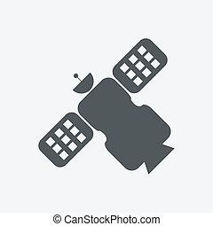 satélite, icono