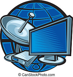satélite, televisión