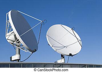 satélites, comunicación