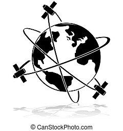 satélites, en órbita
