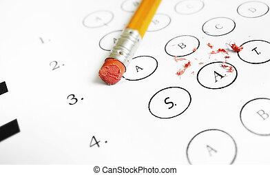 SAT multiple choice exam
