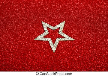 Satanic christmas card with pentagram on glitter background