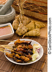 satay traditional malay foods