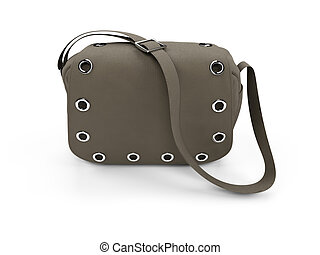 isolated satchel on a white background