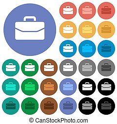 Satchel round flat multi colored icons