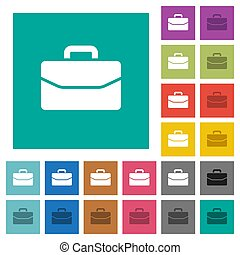 Satchel square flat multi colored icons