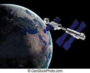satelita, przestrzeń
