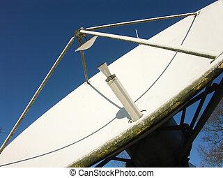 satelite, émission, plat