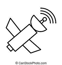 satelite antena communication isolated icon