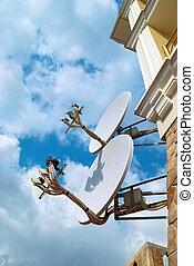 satelliet, antenne