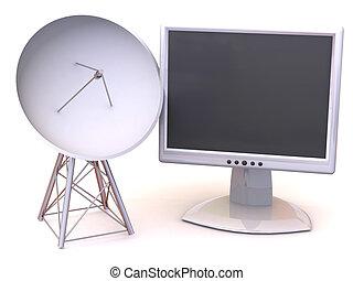 satelliet, monitor