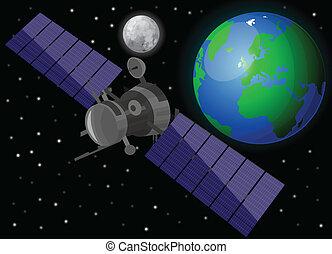 satelliet, ruimte