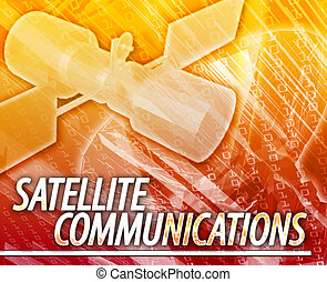 satellietcommunicatie, abstract concept, digitale illustratie