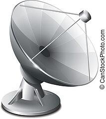 satellit, antenne