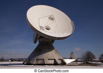 satellit, erde, station, raisting