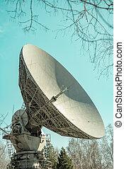 satellit, hintergrund, tellergericht, blaues, antreibstechnik, daten