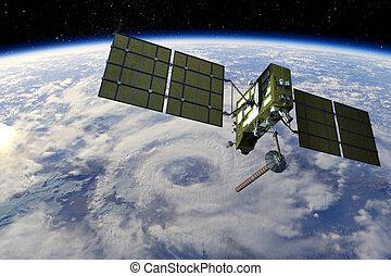 satellit, modern, gps