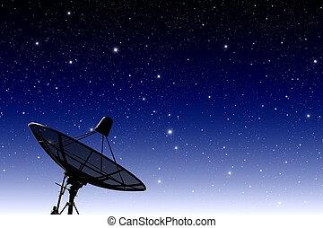 satellit, scheibe