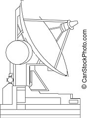 satellit, vektor, tellergericht