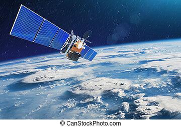 satellite, éléments, meublé, ceci, orages, image, espace,...
