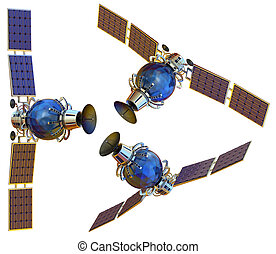 Satellite - 3D models of an artificial satellite (from...