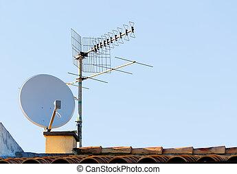 satellite antenna - satellite dish and tv antenna