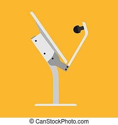 satellite., antenne, technology., tv, média, signal, émission, vecteur, récepteur, plat, station, tour, icône, dessin animé, canal, réseau
