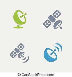 Satellite Broadcast - Granite Icons - A set of 4...