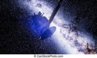 Satellite Cassini is approaching Saturn. Cassini Huygens is ...