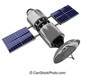 satellite - 3d illustration of satellite isolated over white...